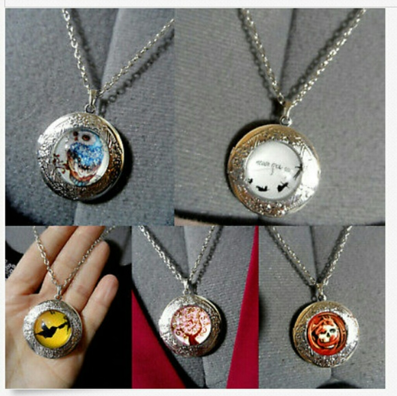 """unbranded Jewelry - New LOCKET Necklaces 20"""" Owl Skull Peter Pan Tree"""